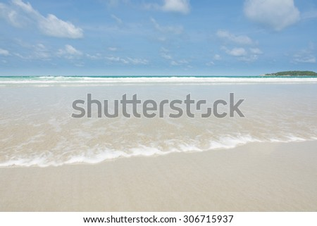Beautiful beach sea and blue sky of Thailand