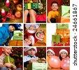 Beautiful christmas collage - stock photo