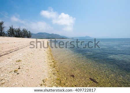 Beautiful, clean and fresh beach with mountain around. Awesome place for holidays.