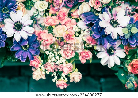 beautiful cloth artificial flowers for background
