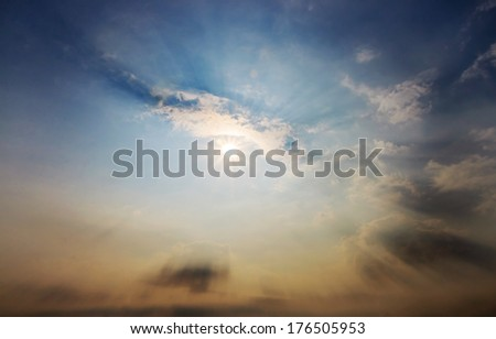 beautiful cloud and sun