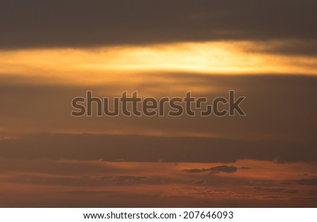 beautiful clouds at dawn