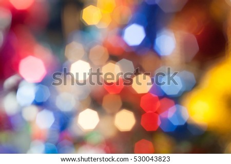 beautiful color bokeh christmas decorations background