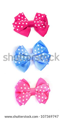 beautiful color bows isolated on white