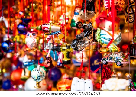 Beautiful colorful Christmas Decorations