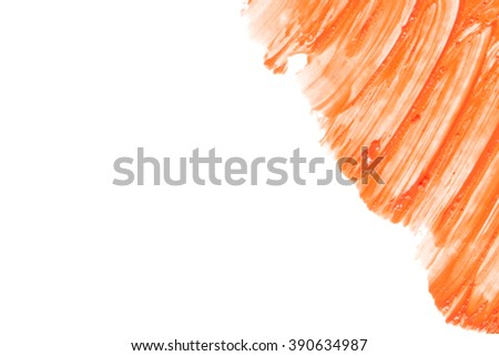 Beautiful cosmetics sample  on a white background.