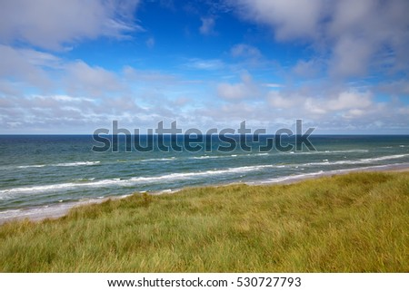 beautiful danish coastline at summer