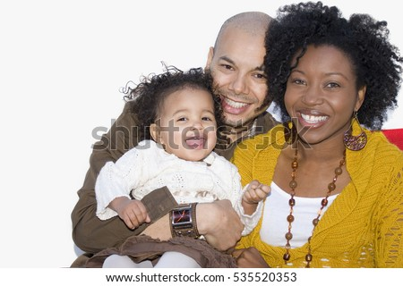 Beautiful diverse family