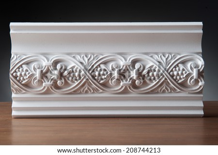beautiful elements of luxury wall design white stucco mouldings over dark background antique plastering - Wall Plastering Designs