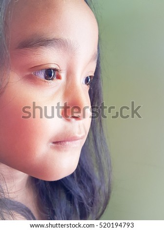 Beautiful eyes of Asian girl in Thailand