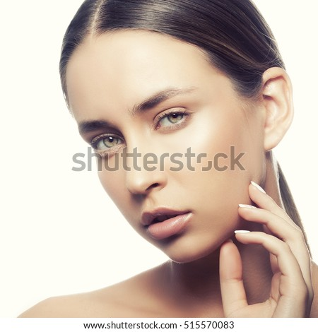 https://thumb10.shutterstock.com/display_pic_with_logo/3288392/515570083/stock-photo-beautiful-face-of-young-caucasian-girl-with-natural-make-up-perfect-skin-and-green-eyes-touch-her-515570083.jpg