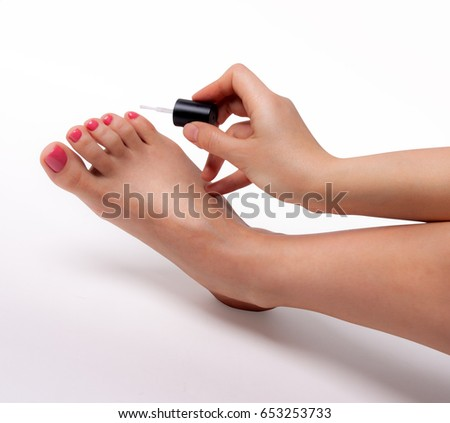 Pedicure Foot Care Icon Stock Vector 239274925