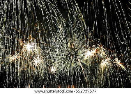 Beautiful fireworks on black background