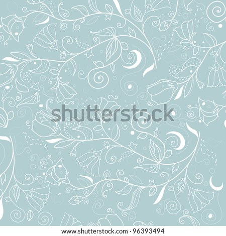 Beautiful floral background (raster version)