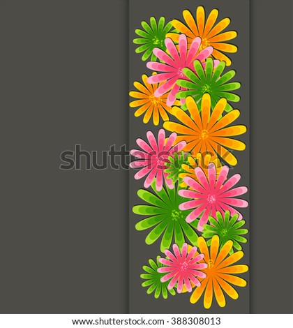 Beautiful flowers border. Floral frame