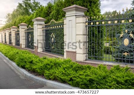 Tarrytown new yorkusa october 25 2016 stock photo for Luxury fences