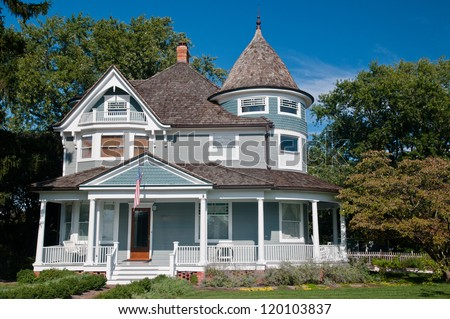 Victorian house stock photos images pictures for Victorian traditional homes