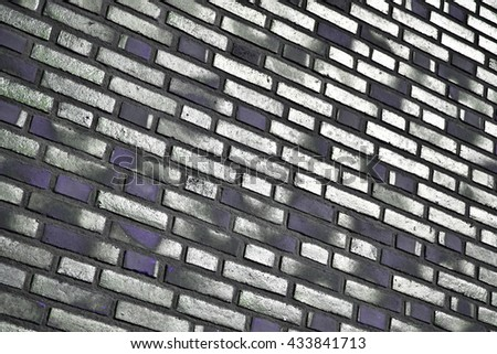 Art glass colorful tiles texture background stock for Purple brick wallpaper