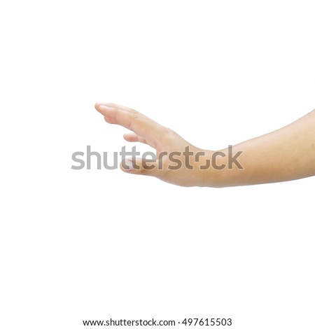 Beautiful  hand  isolated on white background