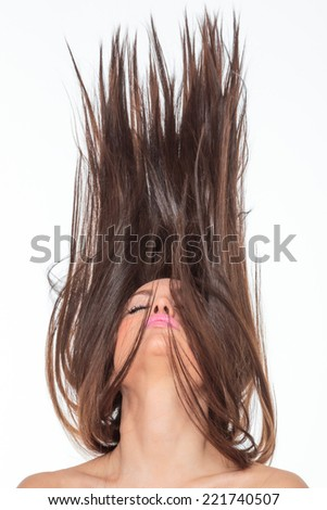 Beautiful Healthy Girl with hair motion