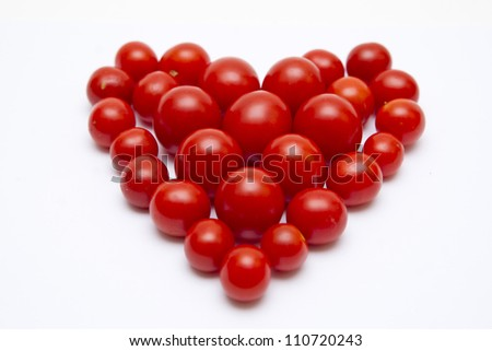 Beautiful heart of tomato on Valentine's Day