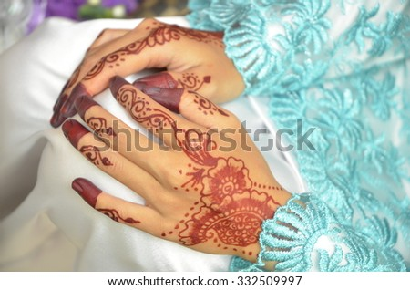 Beautiful henna decoration