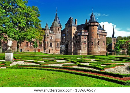 beautiful holland castle de Haar