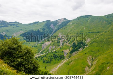 Beautiful landscape of the mountains of Georgia