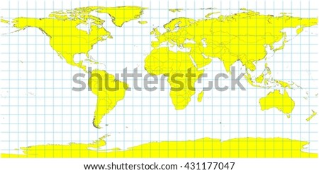 Beautiful large world map illustration yellow stock illustration beautiful large world map illustration yellow country polygons with no country names grid lines gumiabroncs Gallery
