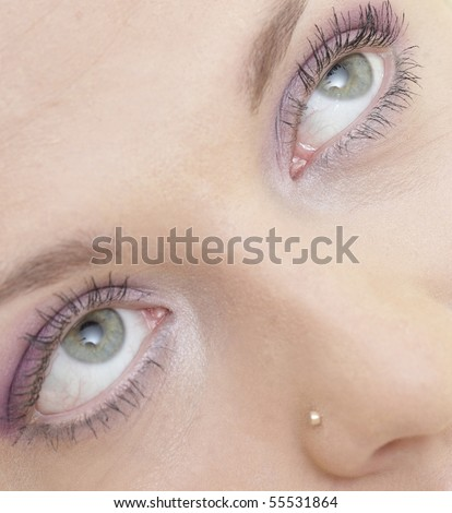 Beautiful makeup eyes