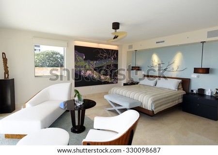 Beautiful Modern Furniture Master Bedroom Suite Stock Photo 330098687
