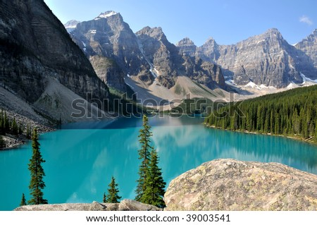 Beautiful Moraine Lake in Summer Horizontal
