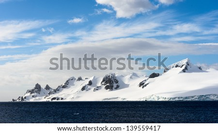 Beautiful mountain covered with snow