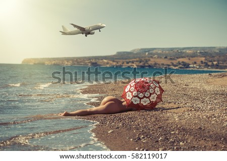 10,367 Pretty Woman Bikini Sunbathing Beach Photos - Free