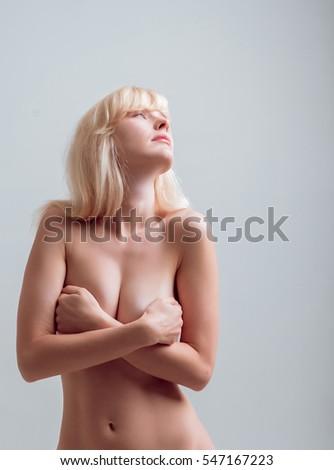 Sideways standing Nude girl