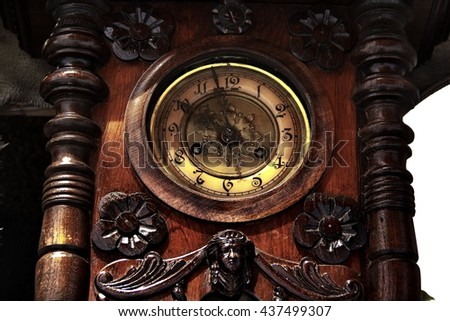 Beautiful of the ancient clock