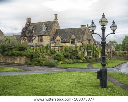 Beautiful old villa in the village Chipping Campden, Cotswold, United Kingdom.