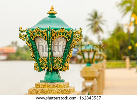 beautiful pillar lamp