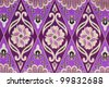 Beautiful purple batik patterns - stock photo