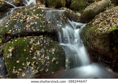 Beautiful river mountain region in autumn season located on Monchique, Portugal.