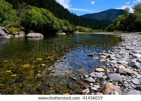 beautiful river with crystal clear water