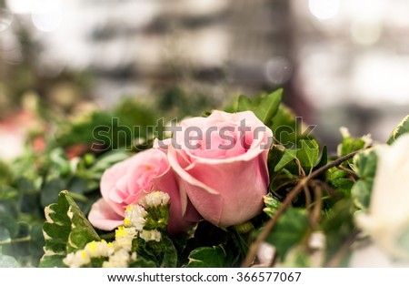Beautiful roses background Bouquet roses in various colors
