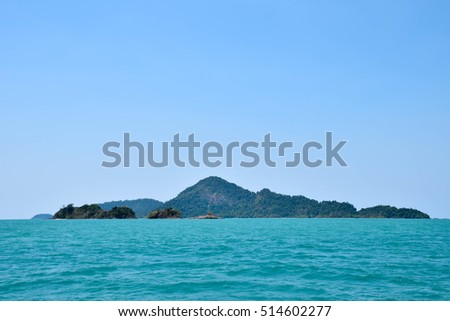 Beautiful sea Ranongs Thailand
