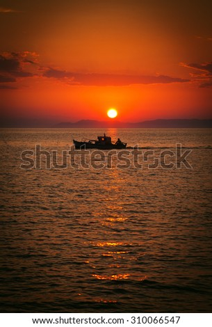 Beautiful sea sunset