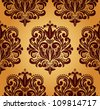 Beautiful seamless damask pattern. - stock vector