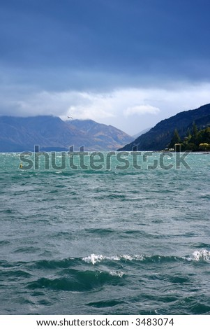 Beautiful seascape from new Zealand queens town.