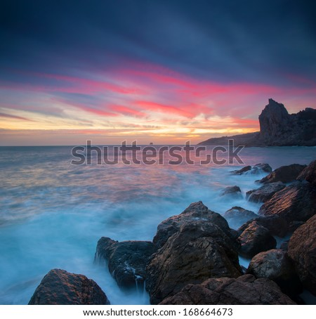 Beautiful seascape with sunrise