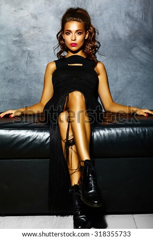 https://thumb10.shutterstock.com/display_pic_with_logo/883822/318355733/stock-photo-beautiful-sexy-woman-model-lady-with-red-lips-in-black-elegant-dress-sitting-on-sofa-near-gray-318355733.jpg