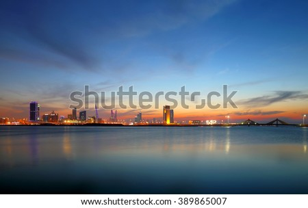 Beautiful skyline of Bahrain, HDR