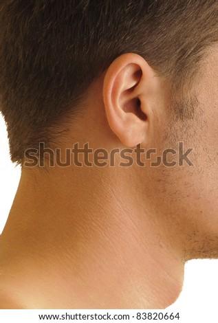 Beautiful small human male ear